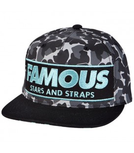 Famous Stars and Straps Snapback Cap Camo Box