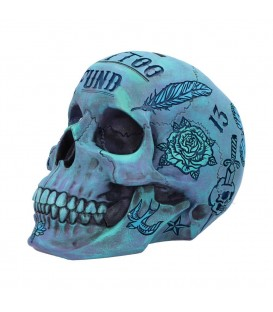Nemesis Now Spardose Tattoo Fund Blue