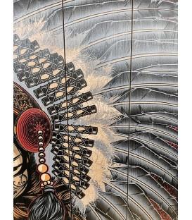 Barmetal Native Design auf Holzlatten 90x60 CM