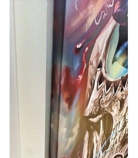 Barmetal Leinwand 90x60 CM Skull Rose