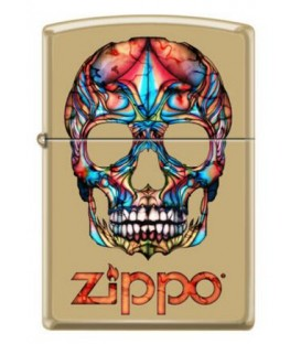Zippo Feuerzeug Colorful Skull