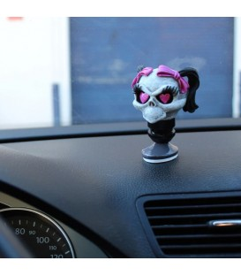 Lethal Angel Armaturenbrett Topper Girl Skull