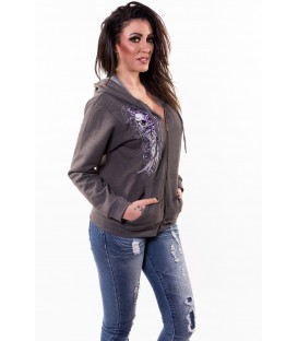 Lethal Angel Zip Hoody Wing Skull