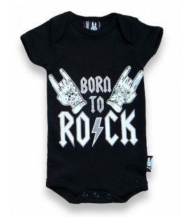 Liquor Brand Babystrampler Born to Rock
