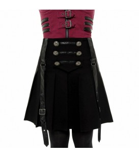 Killstar Mini Faltenrock Dark Academy
