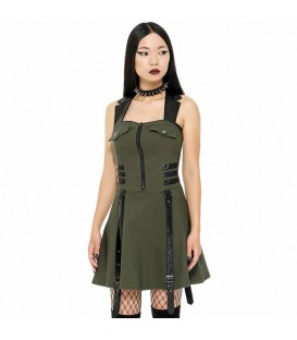 Killstar Dress Psy-Ops Khaki