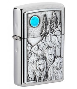 Zippo Wolf Pack and Moon