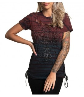 Affliction Shirt Rossellini Red