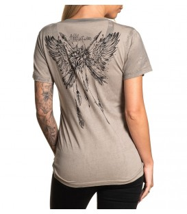 Affliction Shir Rose Feather