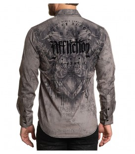 Affliction Hemd Conspiracy Grey