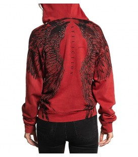 Affliction Hoody Isadora Red