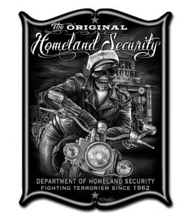 Metallschild Homeland Security