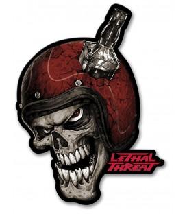 Metallschild Skull Helmet