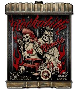 Radiator Metallschild Rockabilly Vintage