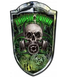 Grill Metallschild Zombie Racer