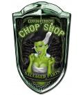 Grill Metallschild Chop Shop Babe