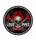 Metallschild Loud Pipes