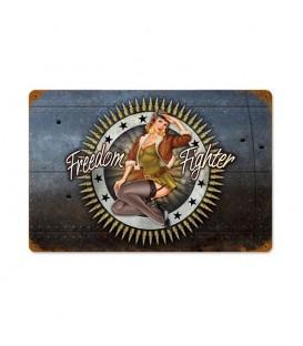 Metallschild Freedom Fighter
