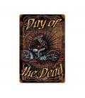 Metallschild Day of the Dead