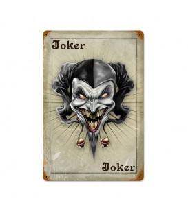 Metallschild Joker Card