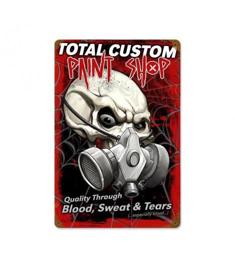 Metallschild Total Custom Paint