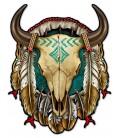 Metallschild Skull Shield