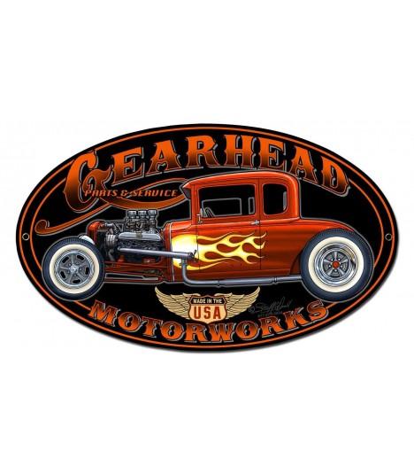 Metallschild Gearhead Motorworks