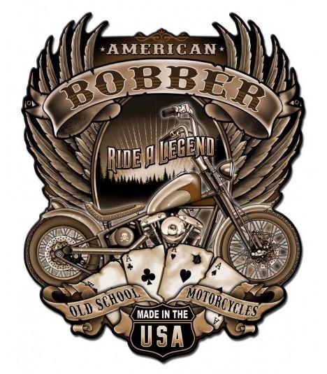 Metallschild American Bobber