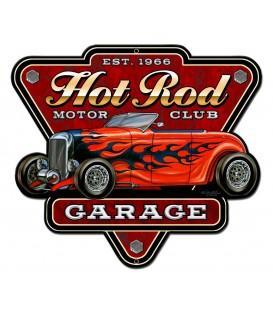 Metallschild Hot Rod Garage