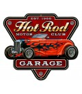 Metallschild Hot Rod Garage