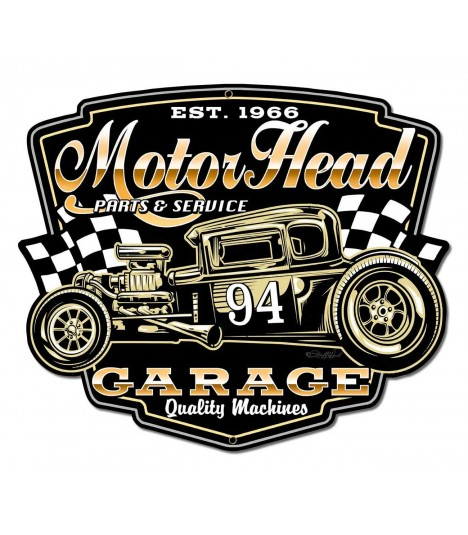 Metallschild Motor Head Garage