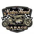 Metallschild Motor Head Garage