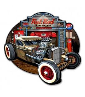Metallschild Rat Rod Garage