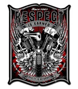 Metallschild Respect Vintage