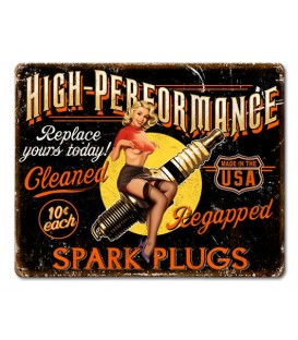 Metallschild High Performance