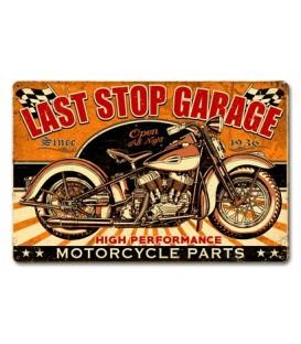 Metallschild Last Stop Garage