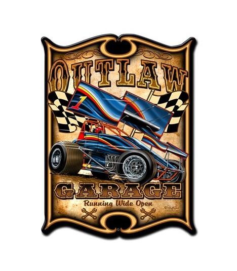 Metallschild Outlaw Sprint