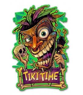 Metallschild Tiki Time