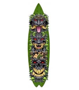 Metallschild Tiki Totem Skateboard