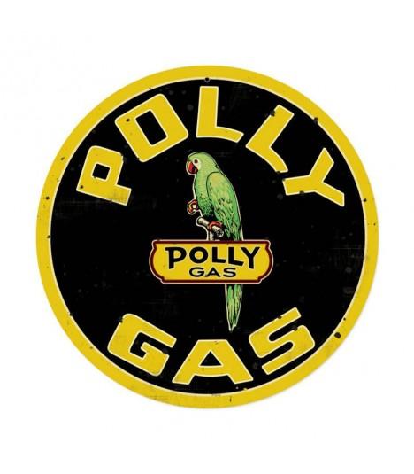 Metallschild Polly Gas