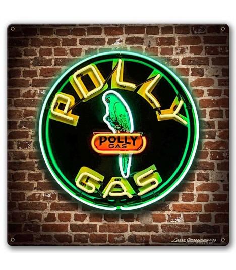 Metallschild Polly Gas Sign