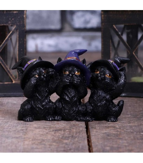 Nemesis Now Figur 3 Wise Black Cats