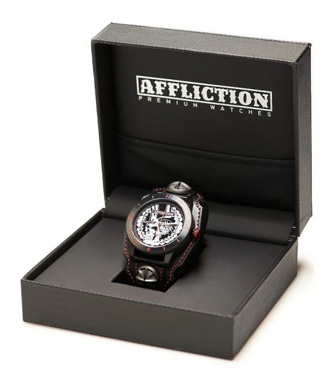 Affliction Armbanduhr Red Skull