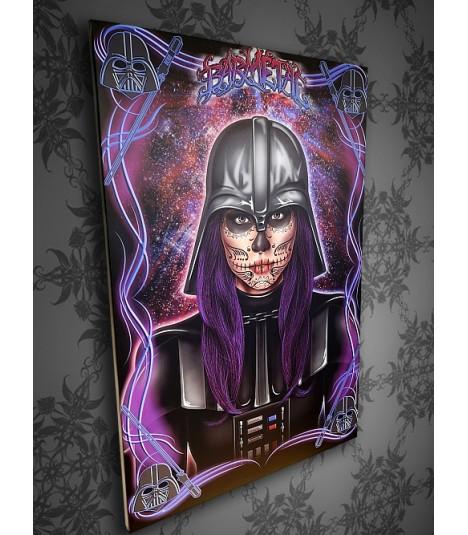 Barmetal Leinwand 90x60 CM Bar Vader