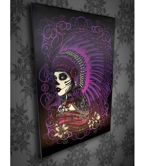 Barmetal Leinwand 90x60 CM Native Purple