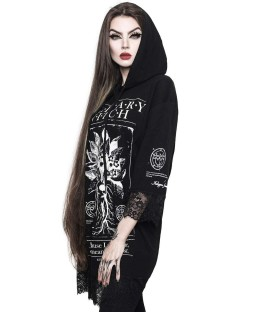 Killstar Top Solitary Lace Hooded