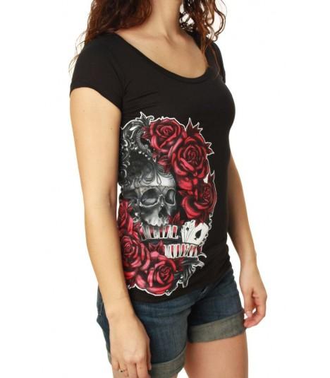 Metal Mulisha Shirt Skull N' Roses