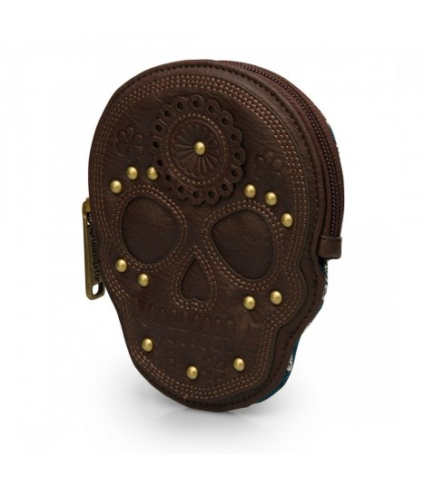 Loungefly Münzbeutel Blue Brown Skull