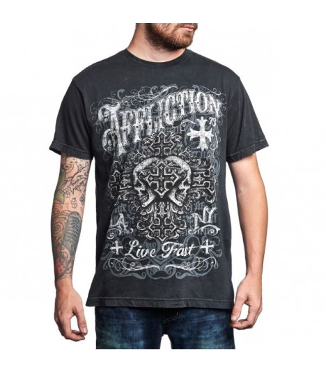 Affliction Shirt 2 Skulls
