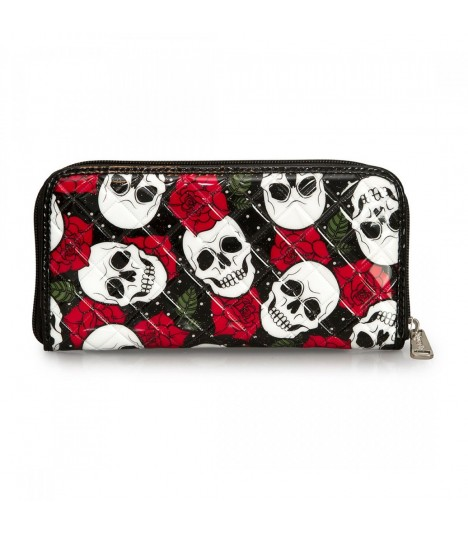 Loungefly Portemonnaie White Skull and Roses